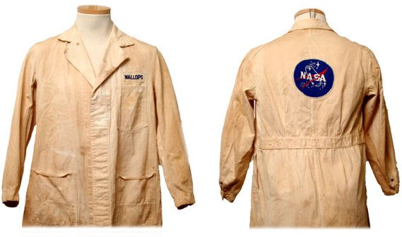 18: NASA Project Mercury Lab Coat from the 1960's This