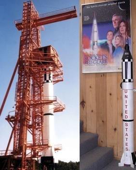 23: 1/12 Scale NASA Mercury Redstone Rocket Model This
