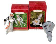 42: 2 Mercury Space Hallmark Christmas Ornaments