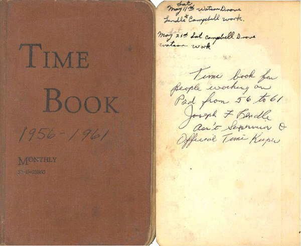 17: 1956//1962 Mercury Program Official NASA Timelogs A