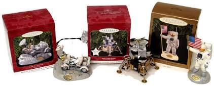 Lot of 3 Apollo Hallmark Christmas Ornaments inclu