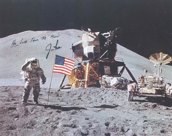 653: Apollo 15 Astronaut James Irwin Autograph