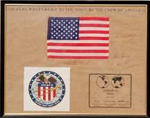 667 Apollo Flown Silk US Flag  Autographed by John You