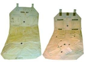 "792: Tool Kit Pouch (25x12.5"") A fold-out plastic pouch"
