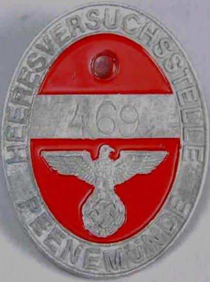 100024: WWII German Rocket Facility Peenemunde Badge