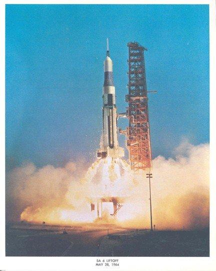 100061: 1964, Saturn SA 6 Liftoff Lithograph