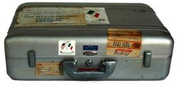 100067: NASA Project San Marco Alum. Halliburton Briefcase