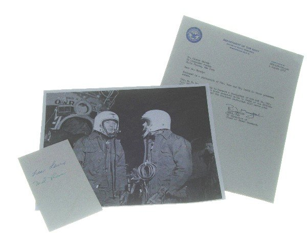 100072: 1956 Strato Lab Malcolm Ross & Lee Lewis Autographs