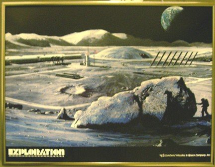 "100180: Lockheed Concept Lunar Station Poster ""Explore"""
