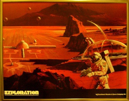 "100181: Lockheed Concept Mars Station Poster ""Exploration"""