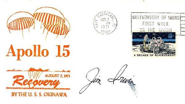 100466: Apollo 15 Astronaut James Irwin Autograph