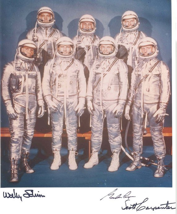 90009: Cooper Carpenter & Schirra Mercury 7 Autographs