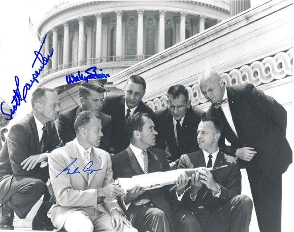 90010: Cooper Carpenter & Schirra Mercury 7 Autographs