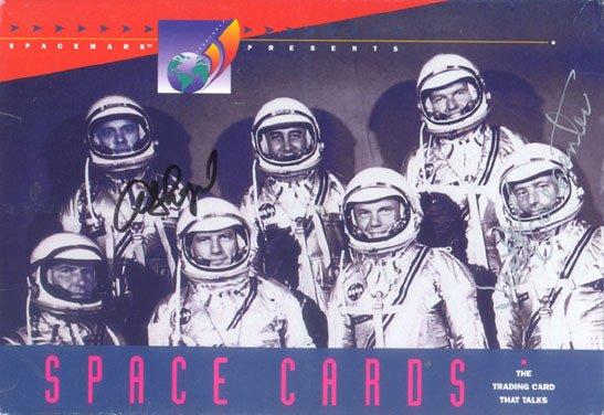 90013: Scott Carpenter and Alan Shepard Mercury Autogra