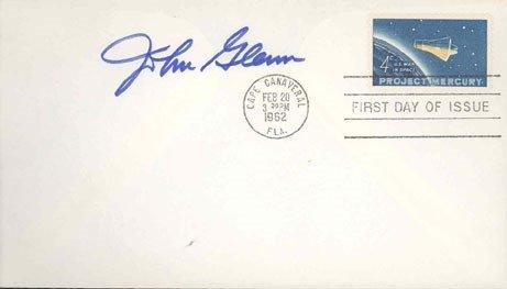 90065: Mercury Astronaut John Glenn Autograph on a 4c P