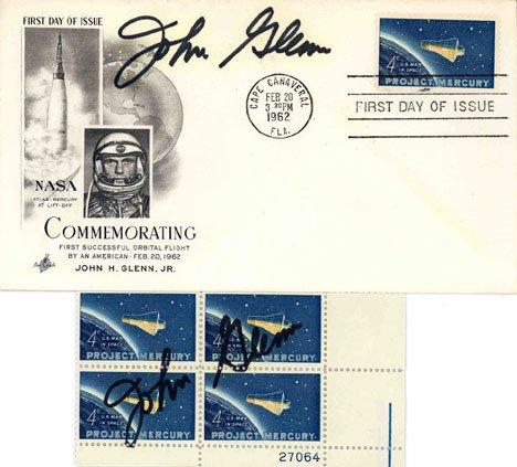 90068: Mercury Astronaut John Glenn Autograph on a FDC