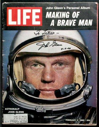 90069: Mercury Astronaut John Glenn Autograph on the fr