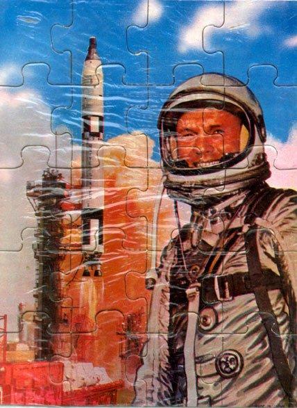 "90078: 3 Original ""Astronaut"" Jigsaw Puzzles Three wond"