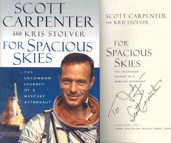 90085: Mercury Astronaut Scott Carpenter Autograph on t