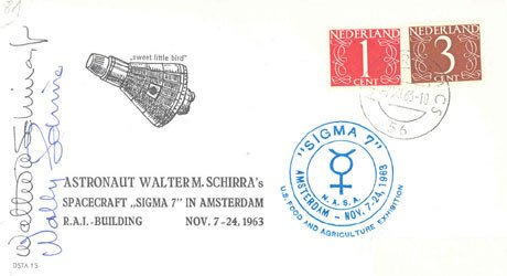 90091: Mercury Astronaut Wally Schirra Autograph on a c