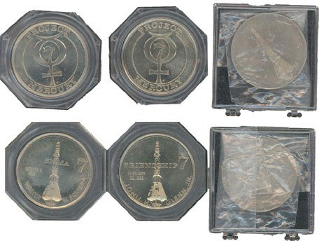 90098: Lot of 3 Sigma 7 Commemorative Medallions issued