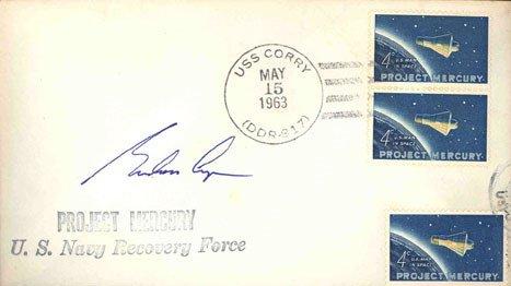 90103: Mercury 9 Astronaut Gordon Cooper Autograph