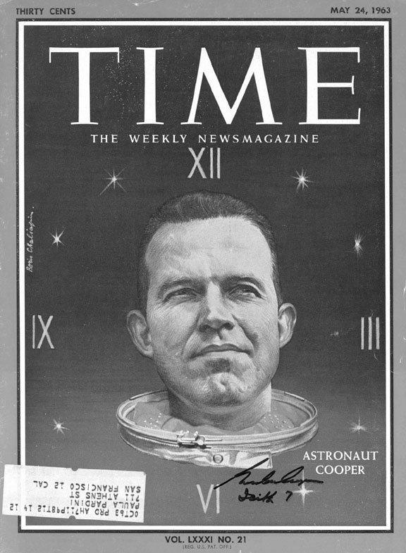 90114: Mercury 9 Astronaut Gordon Cooper Autograph