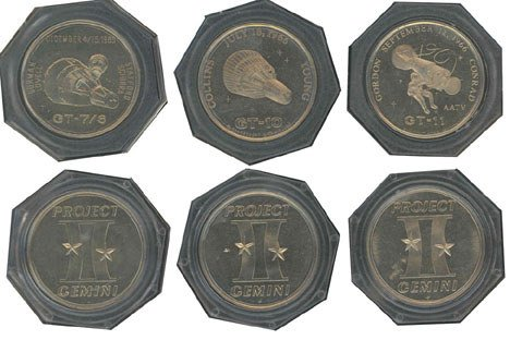 90140: 3 Gemini Commemorative Medallions issued by Spac