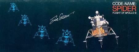 90442 Apollo Astronaut David Scott Autograph in silver