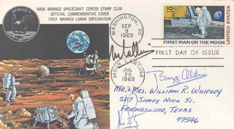 90477: Astronaut Armstrong, Collins and Aldrin Autograp