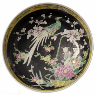 10: Hand-Painted Polychrome Chinese Bowl