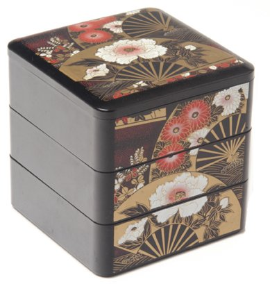 12: Decorative Lacquer Ware Box with Cover