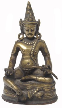 123: Seated Lama Bronze Statue