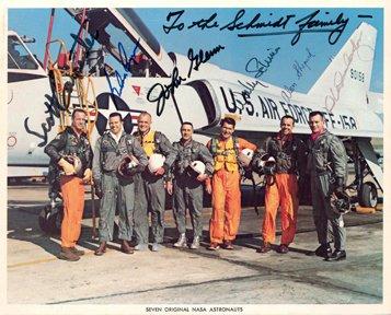 8: Carpenter, Cooper, Glenn, Schirra, Shepard, Slayton