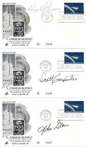 9: Mercury Astronauts Glenn, Grissom and Carpenter Auto