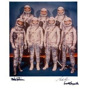 Mercury Astronauts Cooper, Schirra, Carpenter Autog