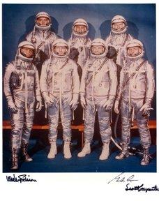 10: Mercury Astronauts Cooper, Schirra, Carpenter Autog