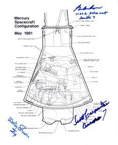 11: Mercury Astronauts Cooper, Schirra, Carpenter Autog