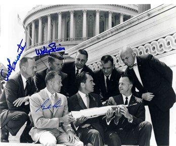 12: Mercury Astronauts Cooper, Schirra, Carpenter Autog