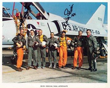 13: Mercury Astronauts Carpenter and Schirra Autographs