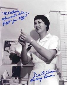 14: Mercury Nurse Dee O'Hara Autograph