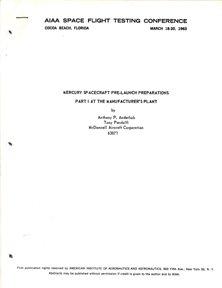 "18: 1963, ""Mercury Spacecraft Pre-Launch Preparations"""