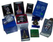 336: Lot of 10 Christmas Ornaments From Apollo Program