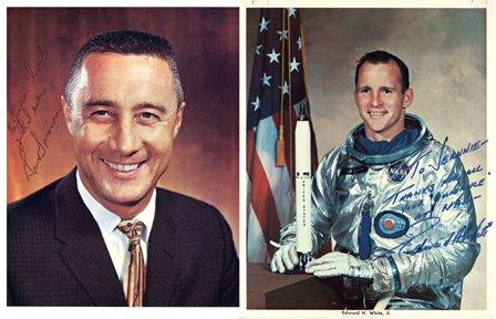 352: Apollo 1 Grissom , White & Chaffee Autographs