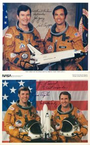 788: STS-1 and STS -2 Crew Autographs