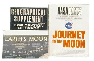 1969, Lot of 3 Moon and Space Books