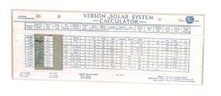 "Verson ""Solar System Calculator"""