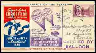 1936, Great Lakes Exposition Flown Cover