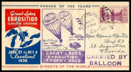 12: 1936, Great Lakes Exposition Flown Cover