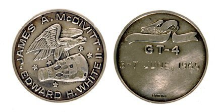 197: GT-4 Flown Sterling Silver Medallion